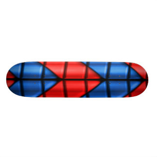 Super héroes - rojo y azul monopatín 21,1 cm