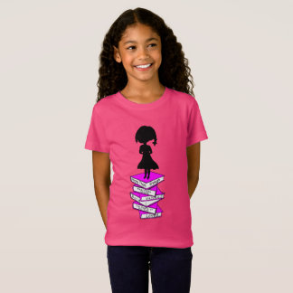 Supere la camiseta de la niña de la firma