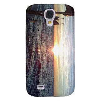 Supere las fotos Sun y el mar, barco Funda Para Galaxy S4