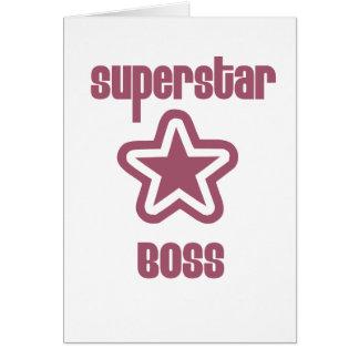 Superestrella Boss Tarjeta De Felicitación