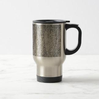 Superficie plana de una piedra gris del granito taza de viaje