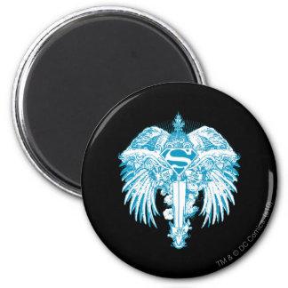 Supergirl Blue Wings Imán Redondo 5 Cm