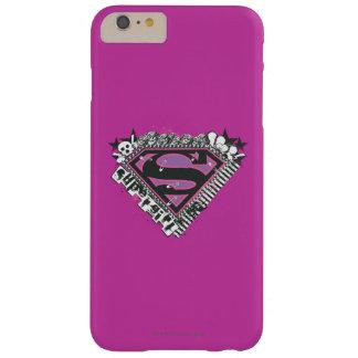 Supergirl fija el logotipo funda de iPhone 6 plus barely there