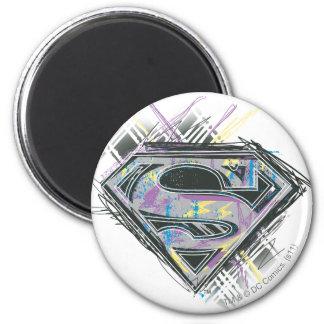 Supergirl garabatea el logotipo imán redondo 5 cm