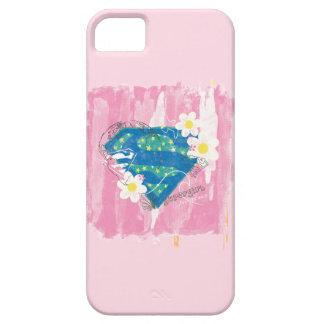 Supergirl para el rosa de la paz funda para iPhone 5 barely there