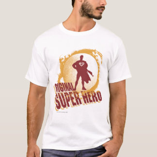 Superhéroe de la original del superhombre camiseta