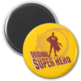 Superhéroe de la original del superhombre imanes para frigoríficos