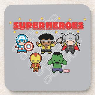 Superhéroes de la maravilla de Kawaii Posavasos