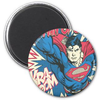 Superhombre 12 imán redondo 5 cm