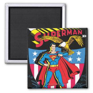 Superhombre #14 imán cuadrado