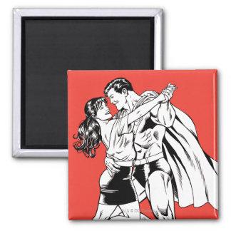 Superhombre 4 blancos y negros imanes