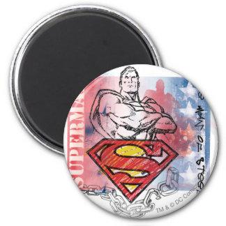Superhombre 81 imán redondo 5 cm