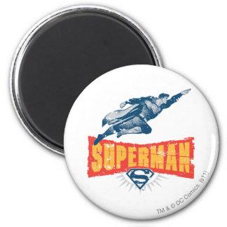 Superhombre apenado imán redondo 5 cm