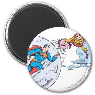 Superhombre atrapado en burbuja imán redondo 5 cm