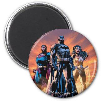 Superhombre, Batman, y trinidad de la Mujer Imán