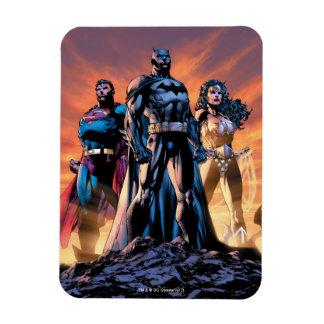 Superhombre, Batman, y trinidad de la Mujer Iman