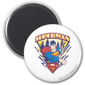 Superhombre con electricidad iman para frigorífico