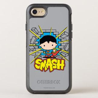 Superhombre de Chibi que rompe a través de la Funda OtterBox Symmetry Para iPhone 8/7