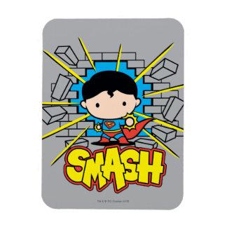 Superhombre de Chibi que rompe a través de la Imán