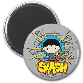 Superhombre de Chibi que rompe a través de la Imanes