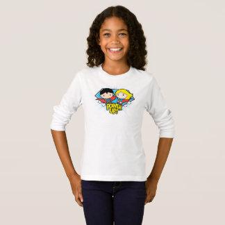 ¡Superhombre de Chibi y poder de Chibi Supergirl Camiseta