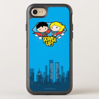 ¡Superhombre de Chibi y poder de Chibi Supergirl Funda OtterBox Symmetry Para iPhone 8/7