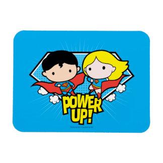 ¡Superhombre de Chibi y poder de Chibi Supergirl Iman