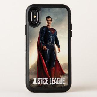 Superhombre de la liga de justicia el | en campo