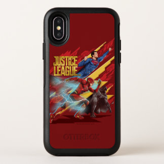 Superhombre de la liga de justicia el |, flash, y