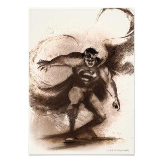 Superhombre del café invitación 12,7 x 17,8 cm