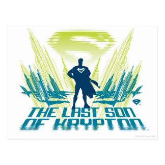 Superhombre el hijo pasado del criptón postal