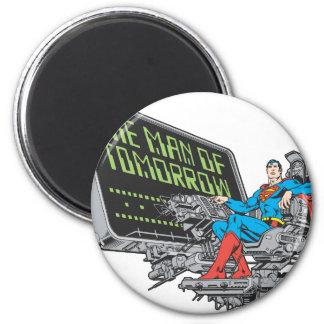Superhombre - el hombre de mañana imán redondo 5 cm