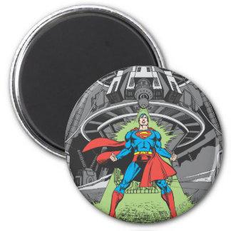 Superhombre expuesto a Kryptonite Imán Redondo 5 Cm