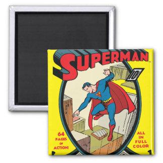 Superhombre (historia completa) imán cuadrado