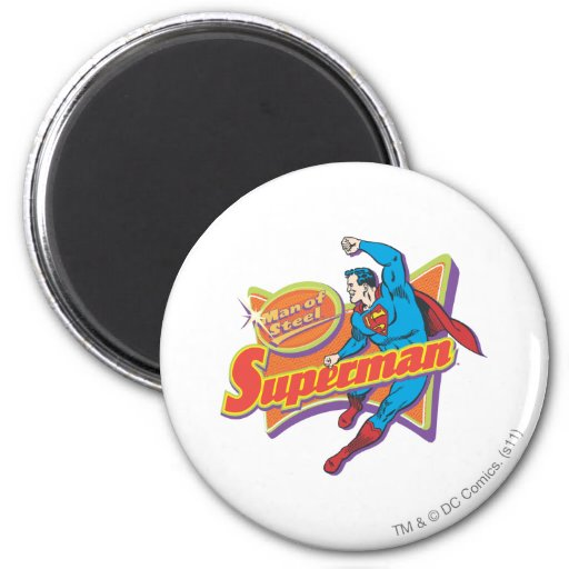 Superhombre - hombre de acero imanes de nevera