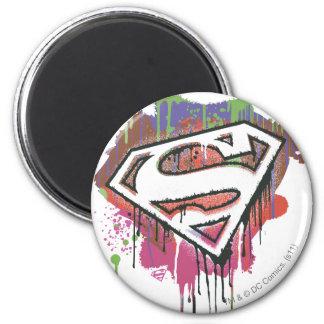 Superhombre - logotipo torcido de la inocencia imán redondo 5 cm