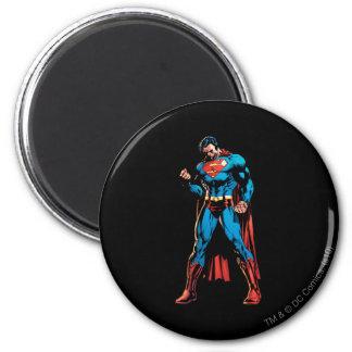 Superhombre - mano en el puño iman de frigorífico