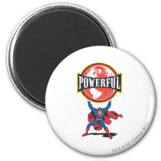 Superhombre potente del mundo imán redondo 5 cm
