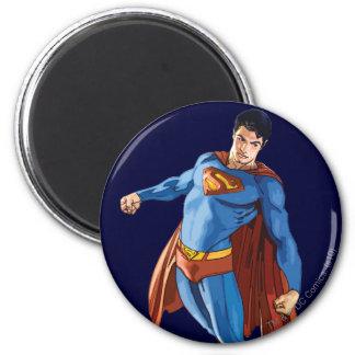 Superhombre que mira abajo iman de frigorífico