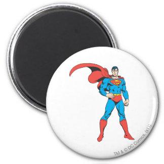 Superhombre que presenta 2 imán redondo 5 cm