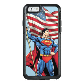 Superhombre que sostiene la bandera de los funda otterbox para iPhone 6/6s
