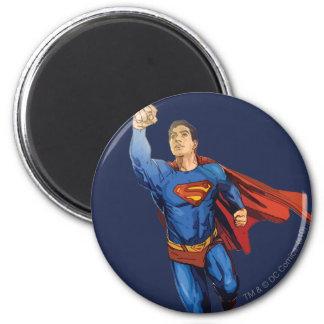 Superhombre que vuela a la izquierda imanes