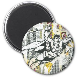 Superhombre - sube PARA ARRIBA el collage 2 Imán