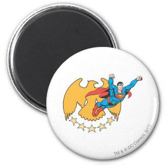 Superhombre y Eagle Imán Redondo 5 Cm