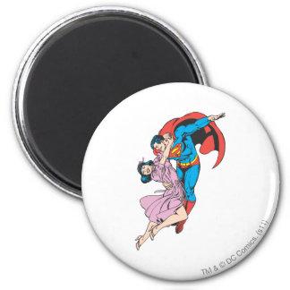 Superhombre y Lois en rosa Imán Redondo 5 Cm