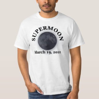 Supermoon - 19 de marzo de 2011 camiseta