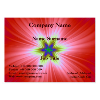 Supernova en tarjeta roja tarjetas de visita grandes