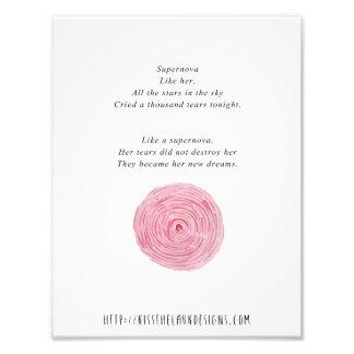Supernova - poesía 8,5 x 11 imprimible impresión fotográfica
