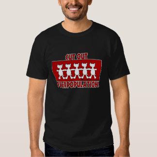¡Superpoblación cortada! Perros Camiseta