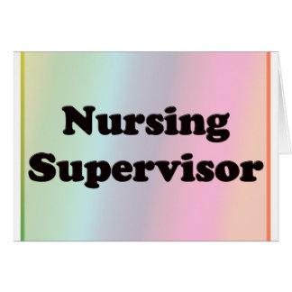 Supervisor del oficio de enfermera tarjeta de felicitación